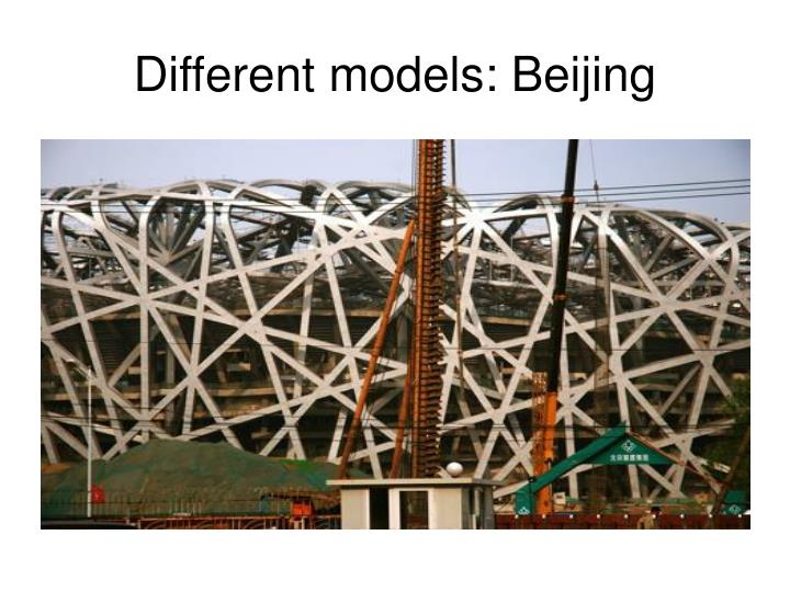 Different models: Beijing