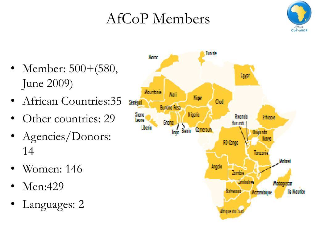 AfCoP Members