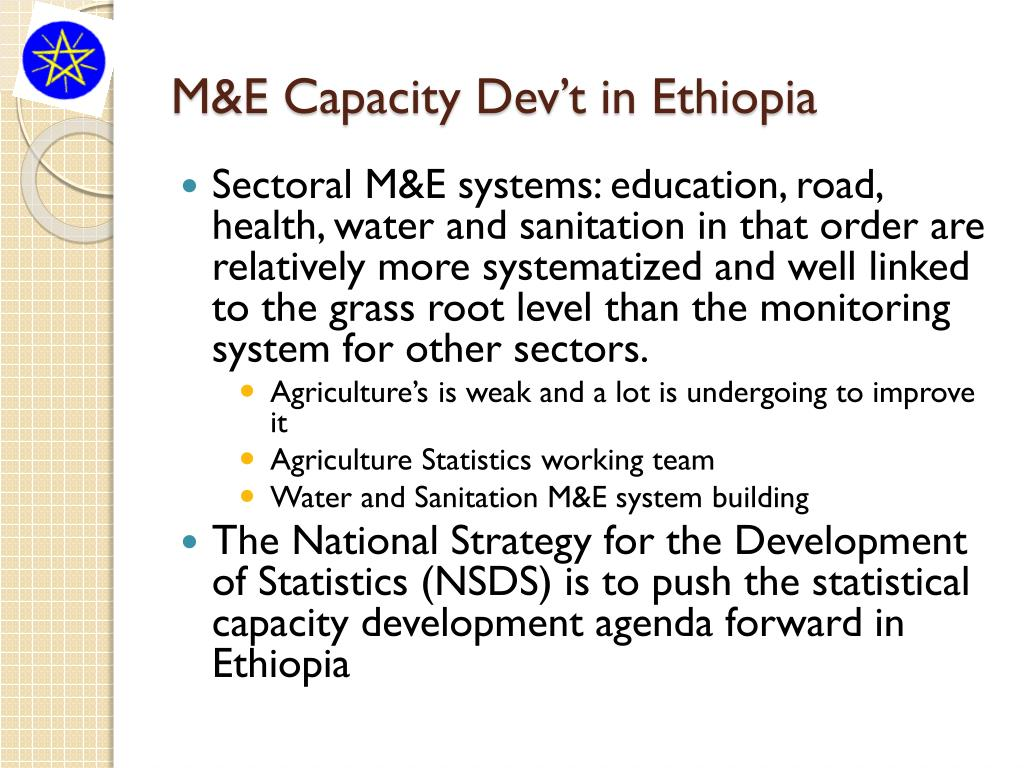 M&E Capacity Dev't in Ethiopia