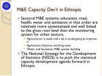 m e capacity dev t in ethiopia
