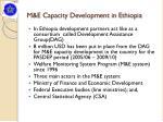 m e capacity development in ethiopia
