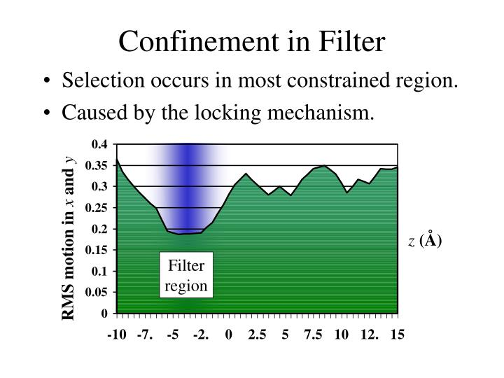 Confinement in Filter