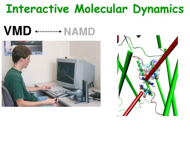 Interactive Molecular Dynamics