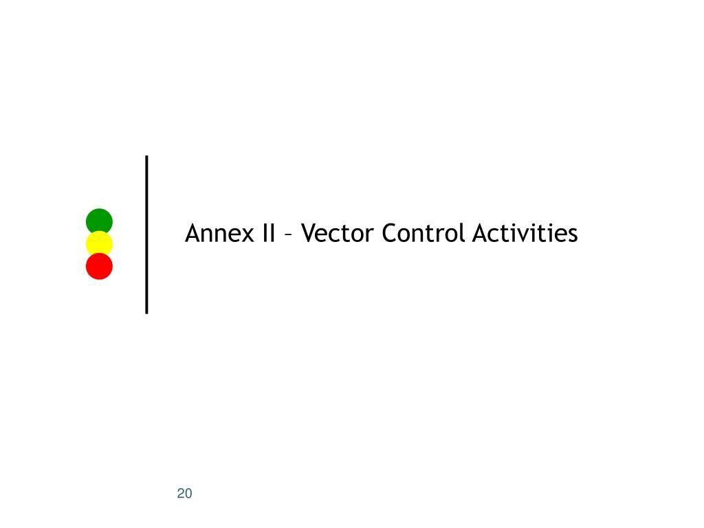 Annex II – Vector Control Activities