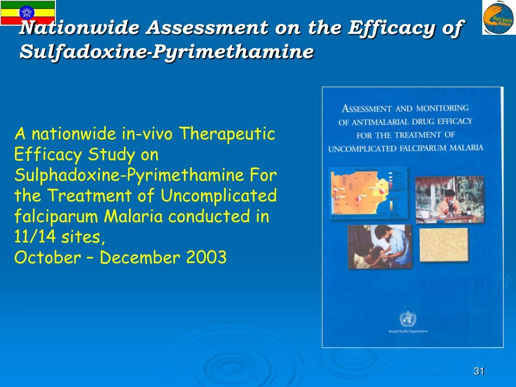 Nationwide Assessment on the Efficacy of Sulfadoxine-Pyrimethamine