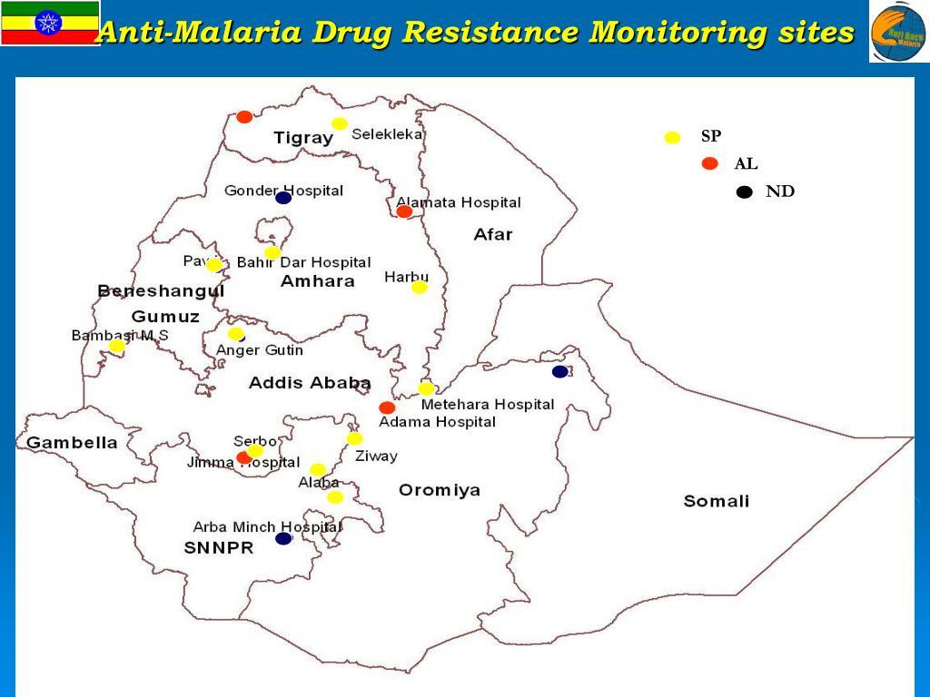 Anti-Malaria Drug Resistance Monitoring sites