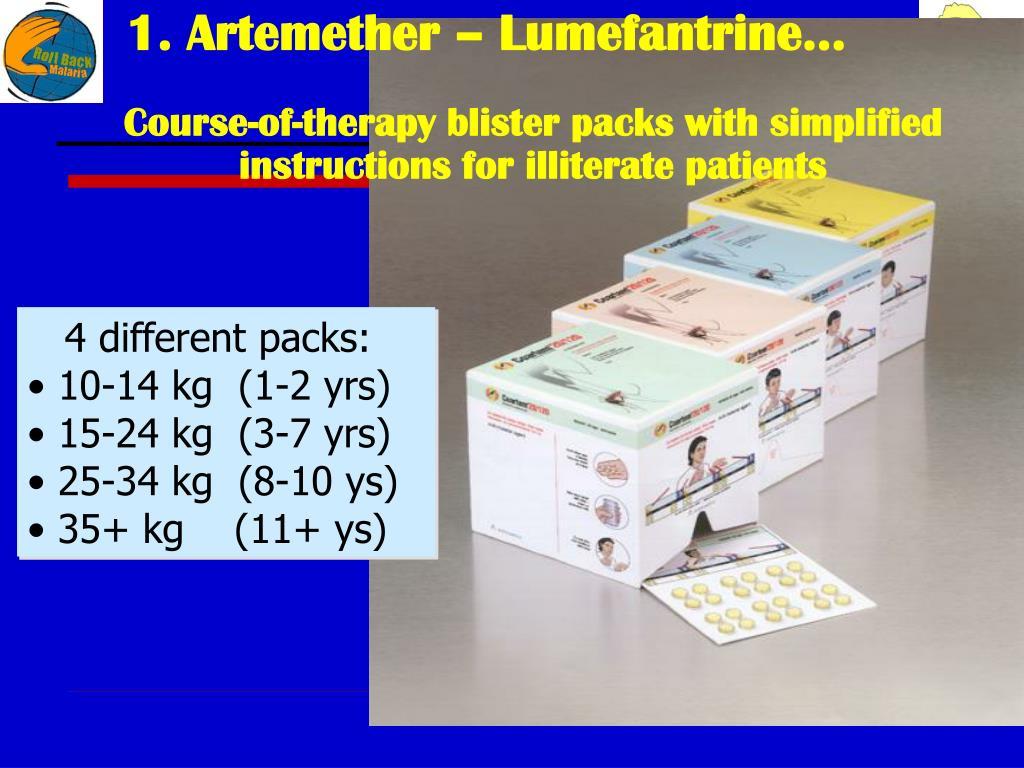 1. Artemether – Lumefantrine…