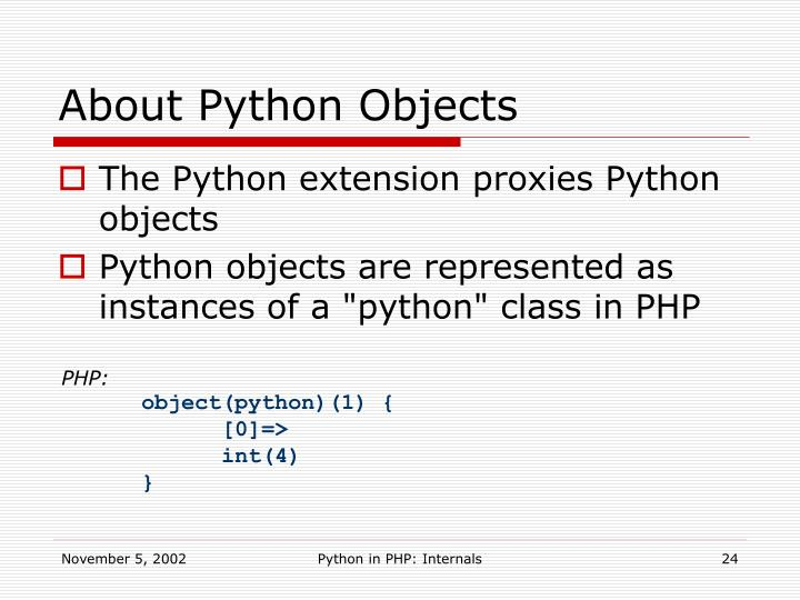 About Python Objects