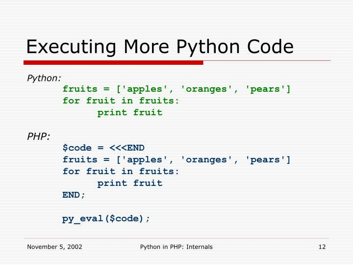 Executing More Python Code