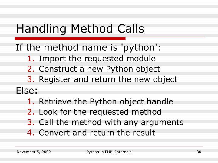 Handling Method Calls