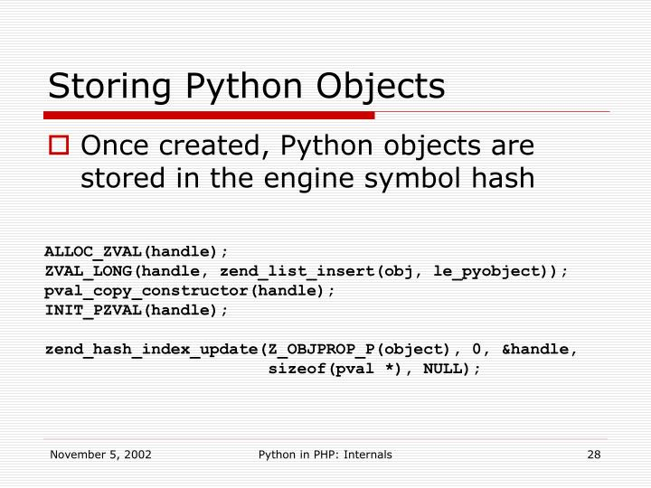 Storing Python Objects