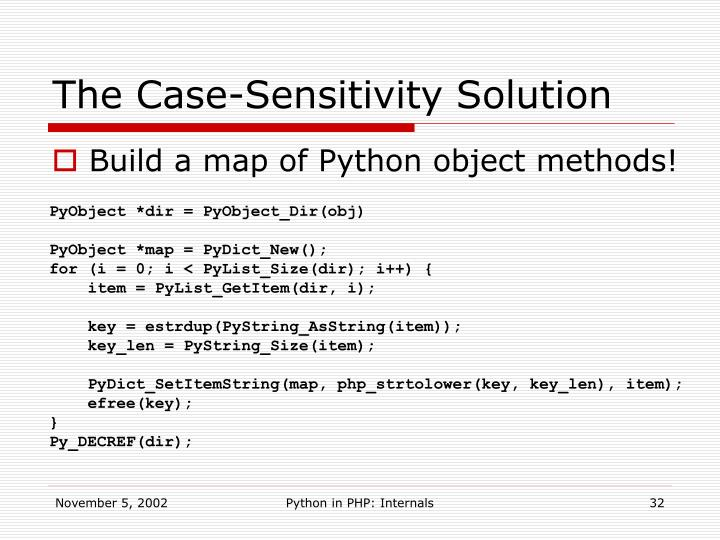 The Case-Sensitivity Solution