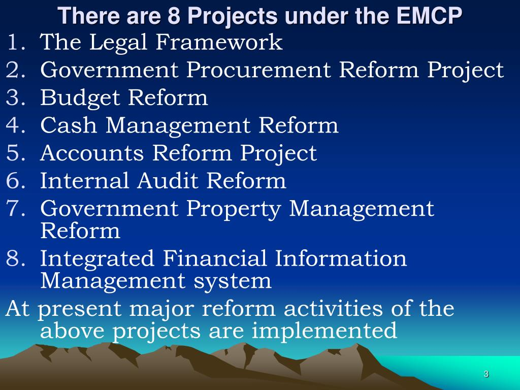 There are 8 Projects under the EMCP