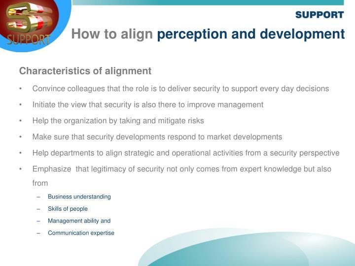 Characteristics of alignment