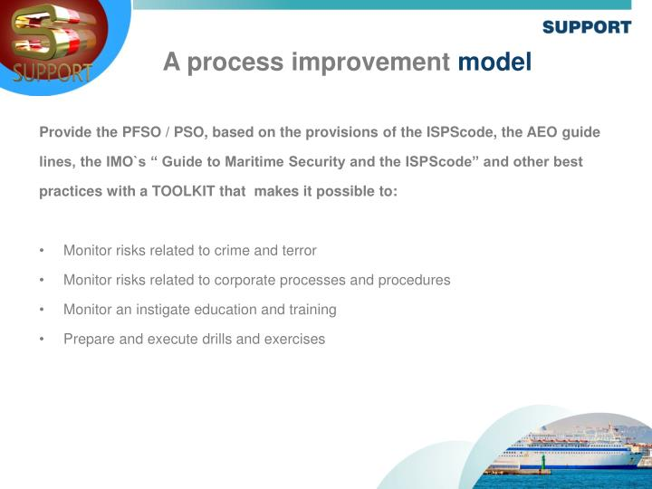 Provide the PFSO / PSO, based on the provisions of the ISPScode, the AEO guide