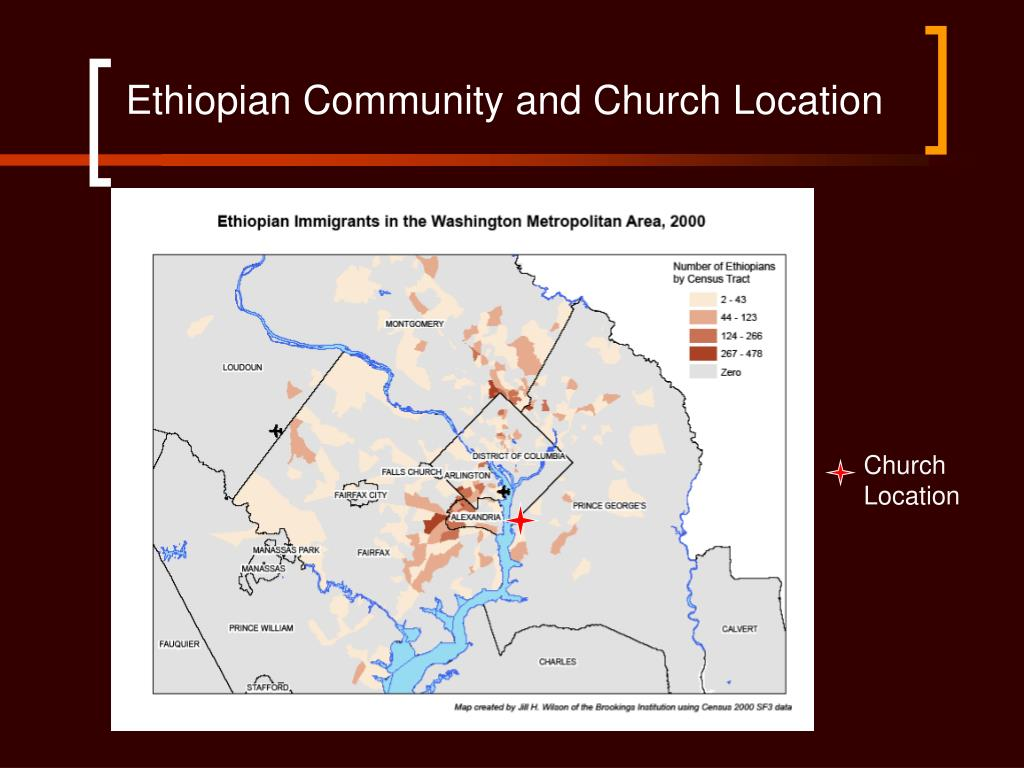 Ethiopian Community and Church Location