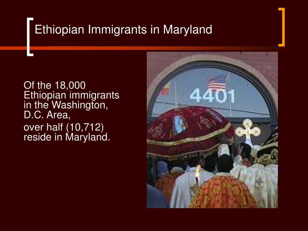 Ethiopian Immigrants in Maryland