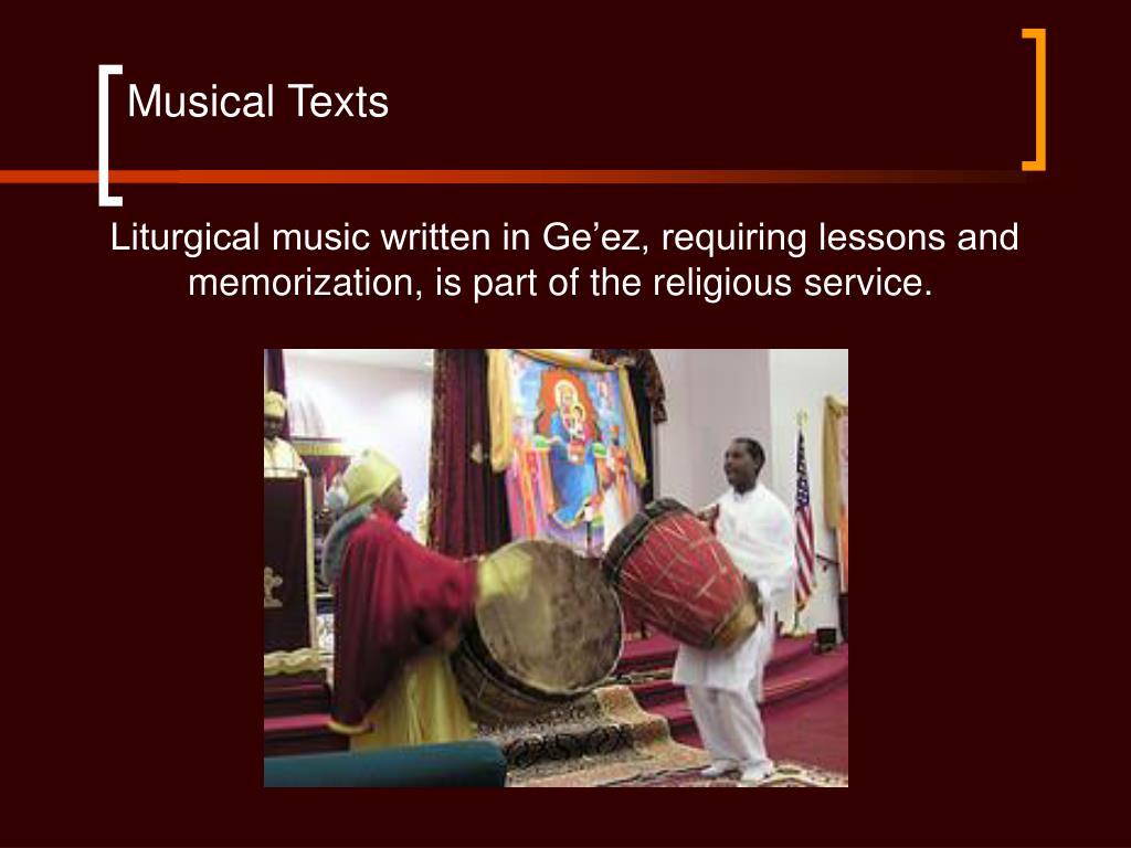 Musical Texts