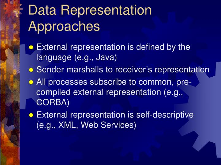 Data Representation Approaches
