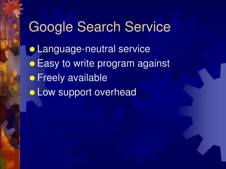 Google Search Service