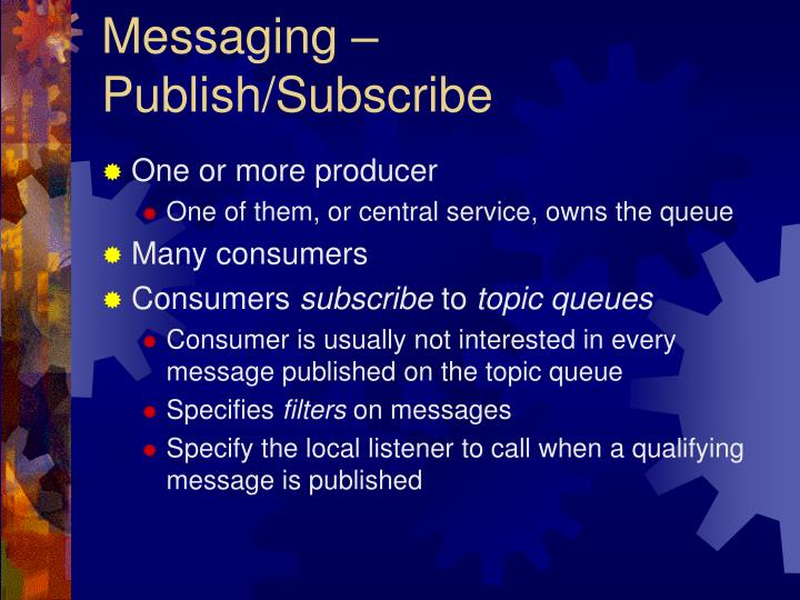 Messaging – Publish/Subscribe