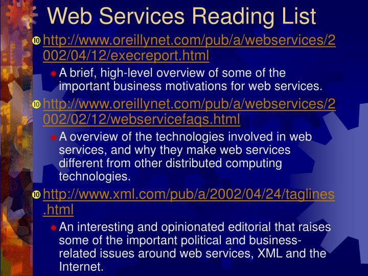 Web Services Reading List