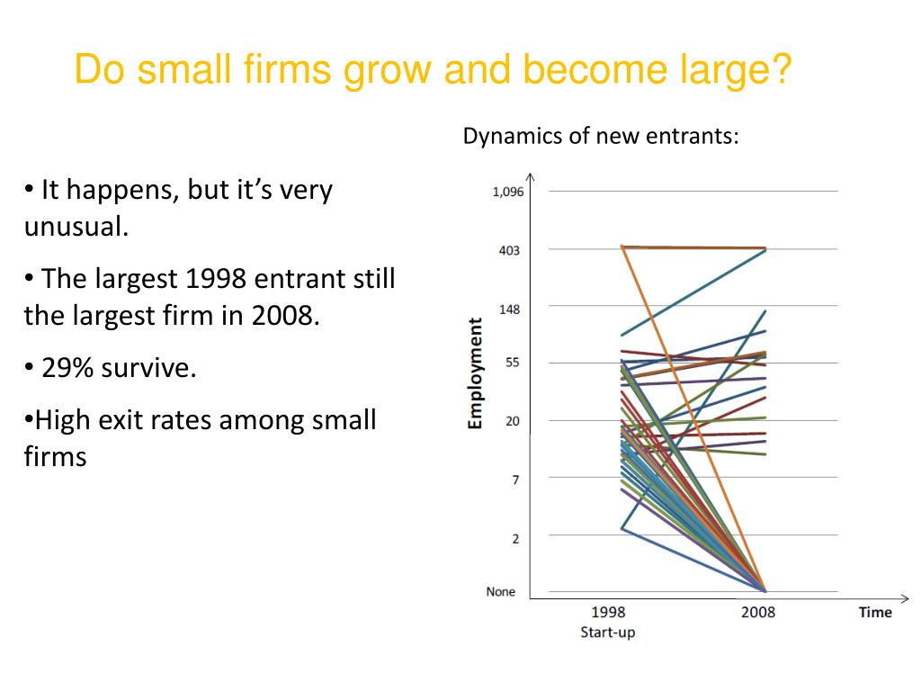 Do small firms grow and become large?