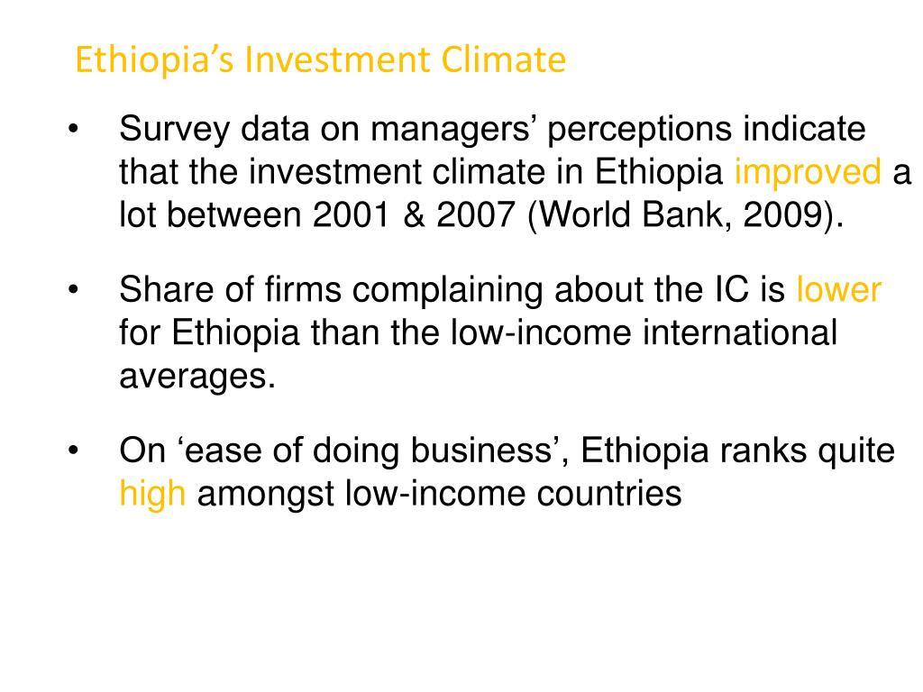 Ethiopia's Investment Climate