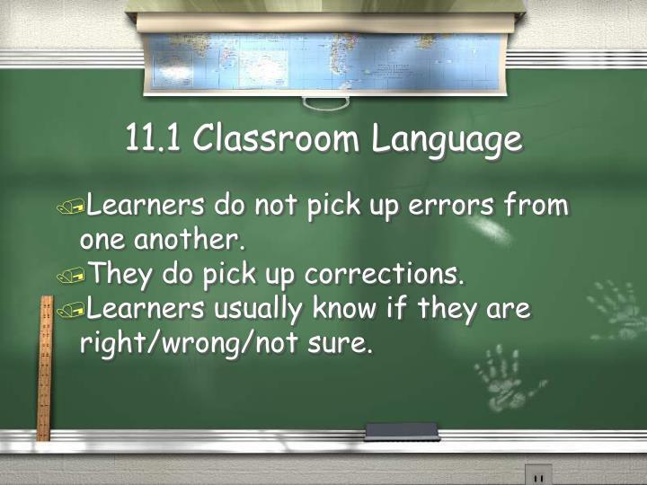 11.1 Classroom Language