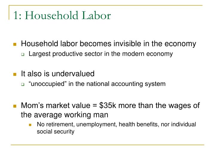 1: Household Labor