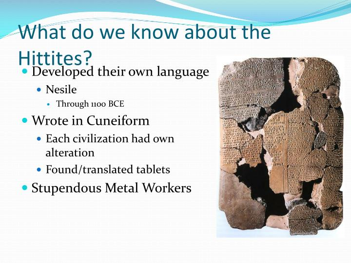 What do we know about the Hittites?