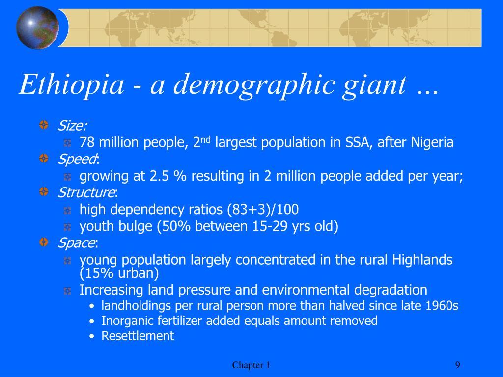 Ethiopia - a demographic giant …