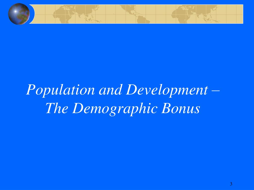 Population and Development –