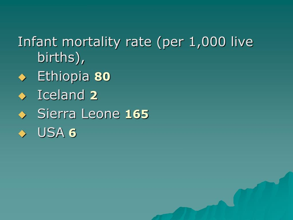 Infant mortality rate (per 1,000 live births),