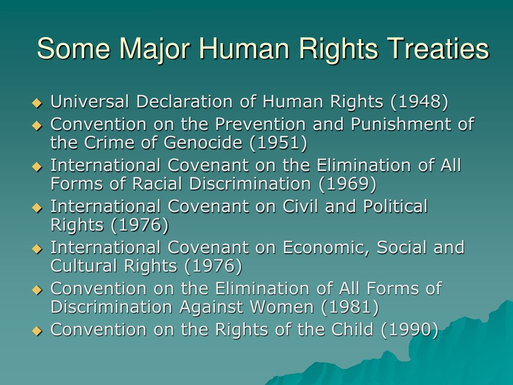 Some Major Human Rights Treaties