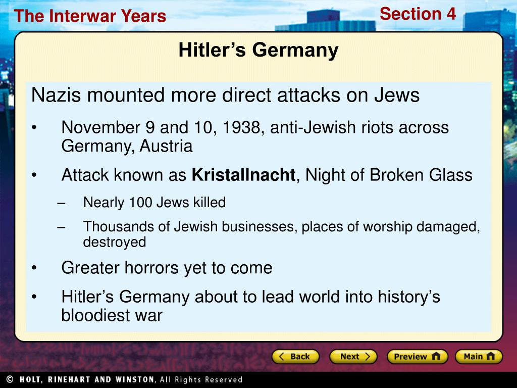 Nazis mounted more direct attacks on Jews