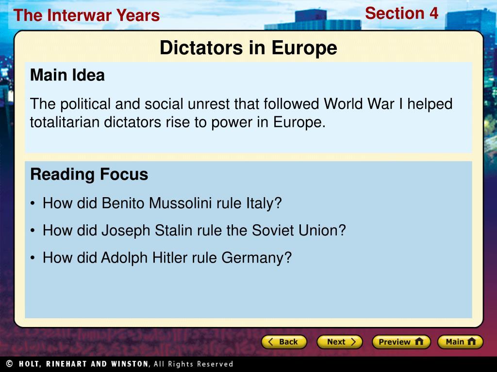 Dictators in Europe