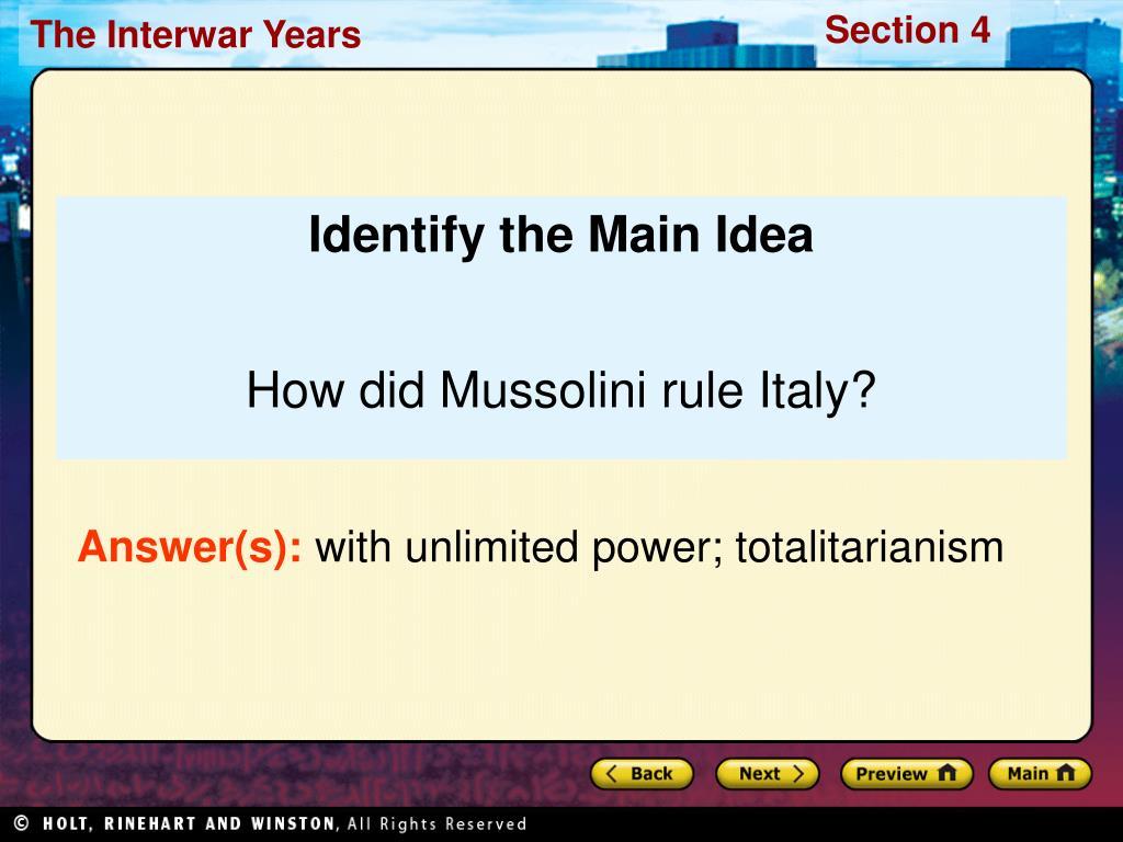 Identify the Main Idea