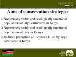 aims of conservation strategies