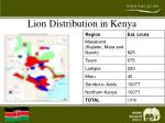 lion distribution in kenya