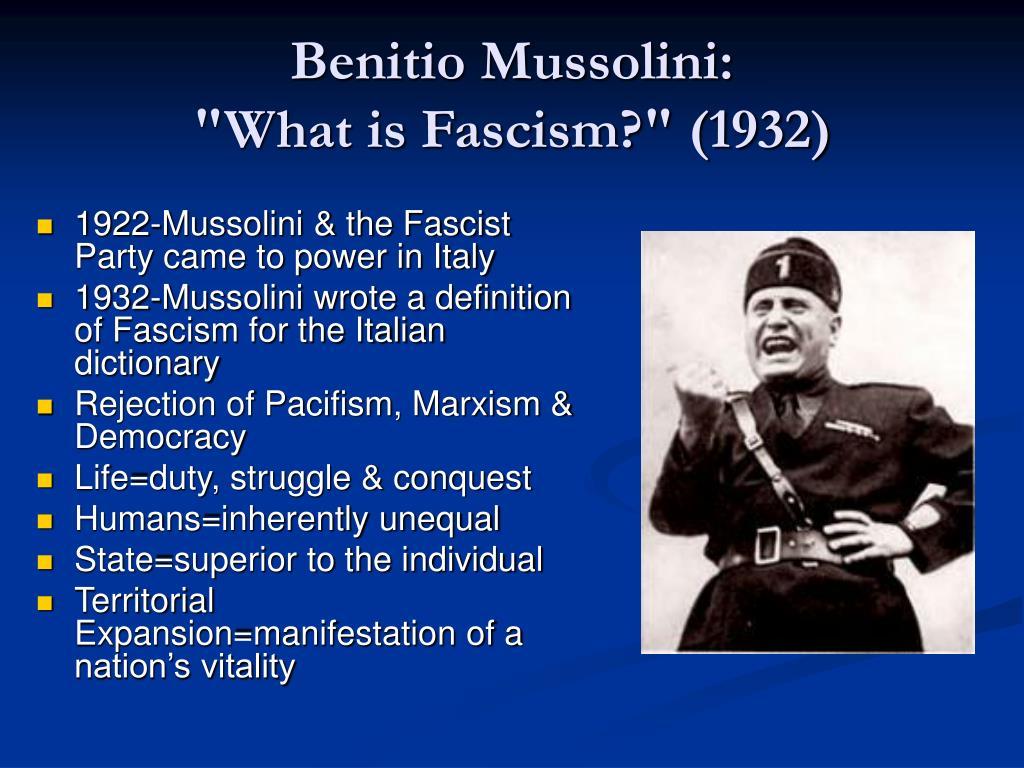 Benitio Mussolini: