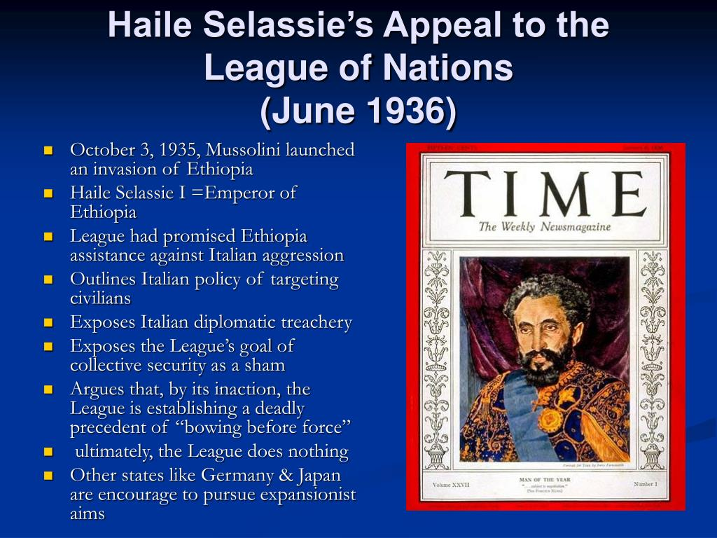Haile Selassie's Appeal to the League of Nations