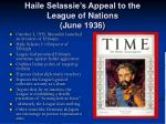 haile selassie s appeal to the league of nations june 1936