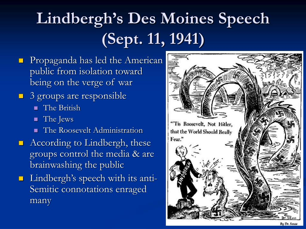 Lindbergh's Des Moines Speech