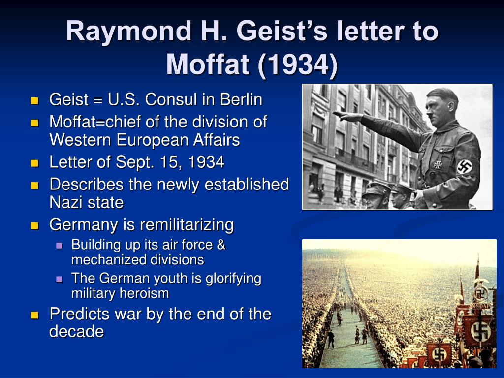 Raymond H. Geist's letter to Moffat (1934)