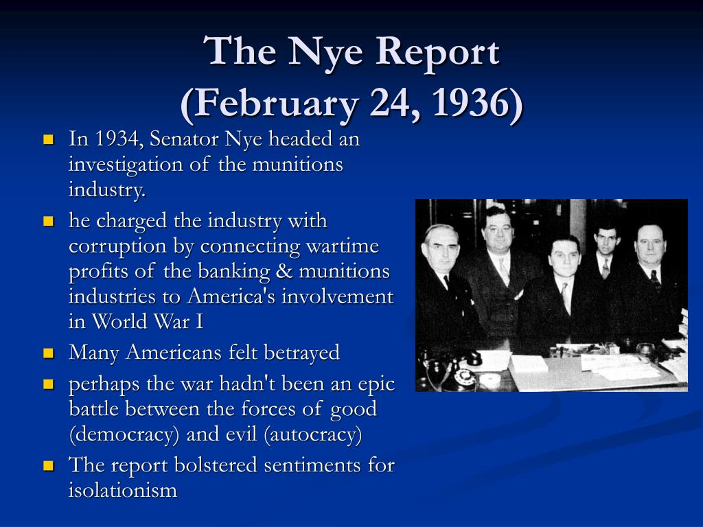 The Nye Report