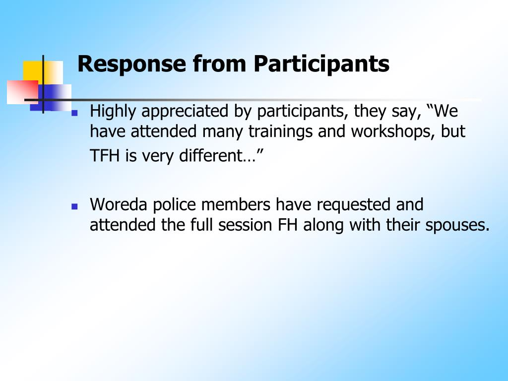 Response from Participants