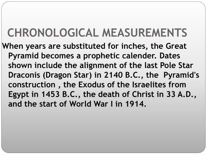 CHRONOLOGICAL MEASUREMENTS