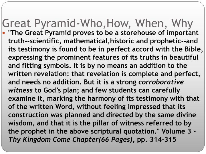 Great Pyramid-Who,How, When, Why