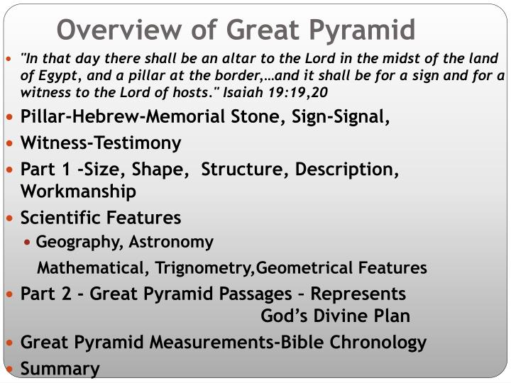 Overview of Great Pyramid
